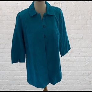 NWT Chico's Pleat Back Topper